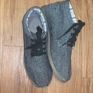 Men's Canvas TOMS Boots in Gray